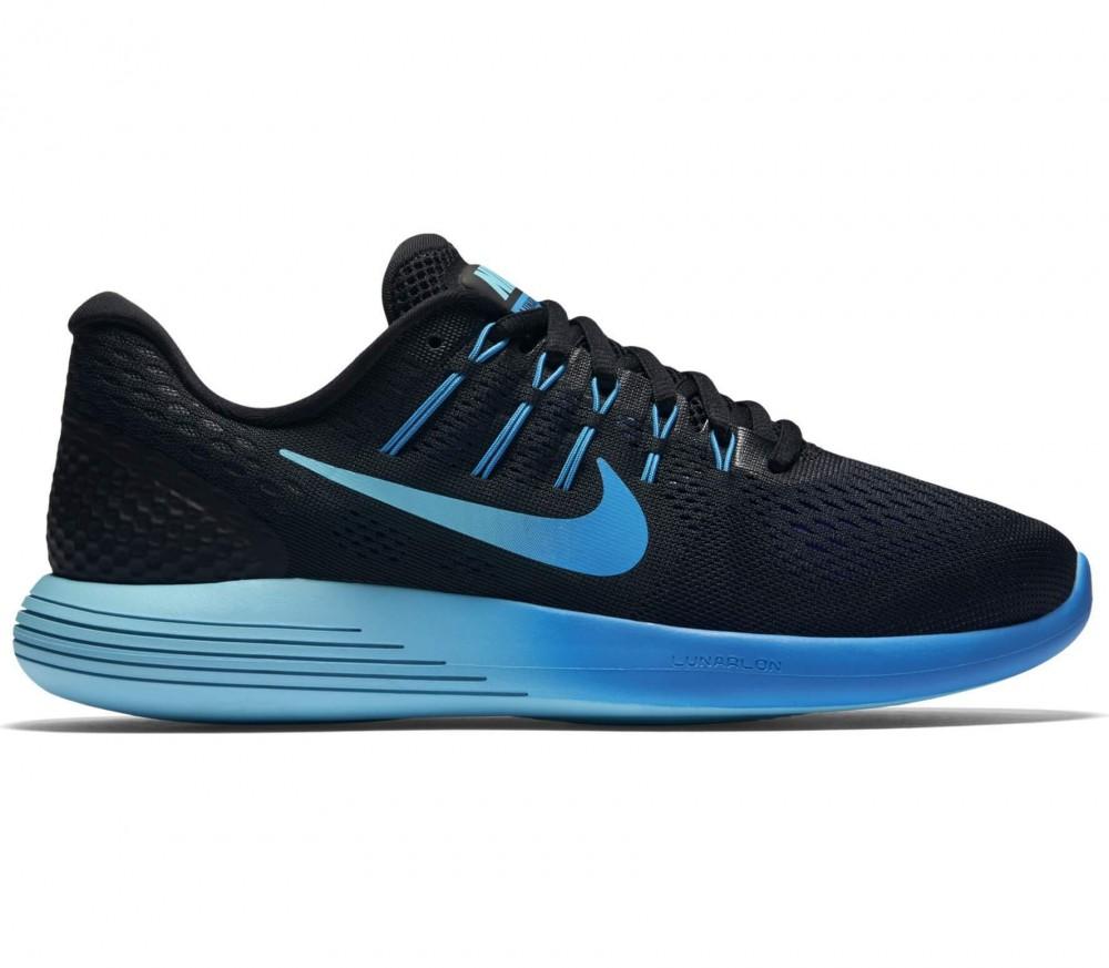 Nike - Lunarglide 8 dam löparskor (svart/blå)