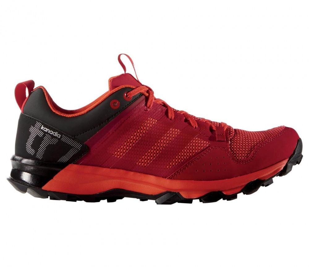 Adidas - Kanadia 7 TR Herr löparskor (röd/svart)