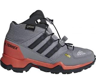 competitive price 3215f 0ad82 adidas terrex mid gtx barn vandringskänga grå röd