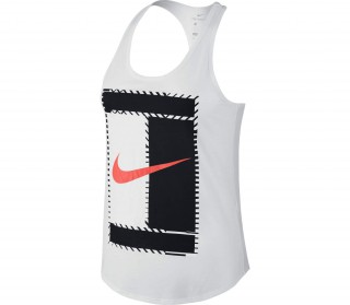 online retailer 13bce c9bdf nike court dry womens tennis tank top white black
