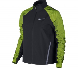 huge selection of bb40c bd6e5 nike stadium womens running jacket black light green