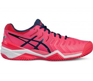 free shipping 435eb 8efc8 asics gel resolution 7 clay dam tennis shoe rosa blå